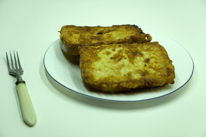 Włoska mozzarella w carrozza zboża francuskim lunchu obraz stock