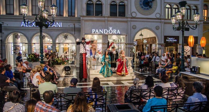 Włoska opera na małej scenie wśrodku Weneckiego hotelu Vegas, lasy NV obraz royalty free