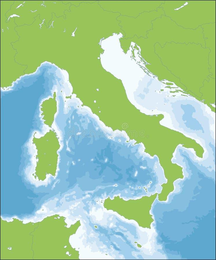Włoska republiki mapa ilustracja wektor