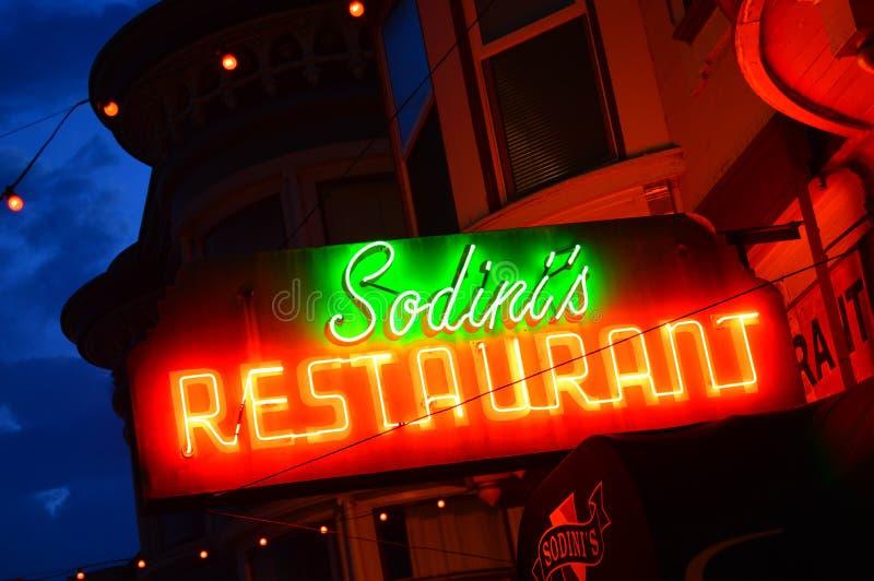Włoska restauracja, San Francisco fotografia royalty free