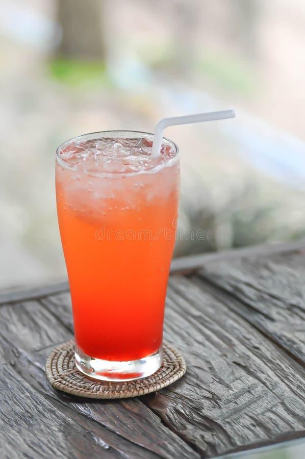 Włoska soda lub truskawki soda zdjęcia stock