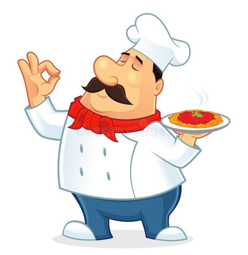 Włoska szef kuchni kreskówka fotografia royalty free