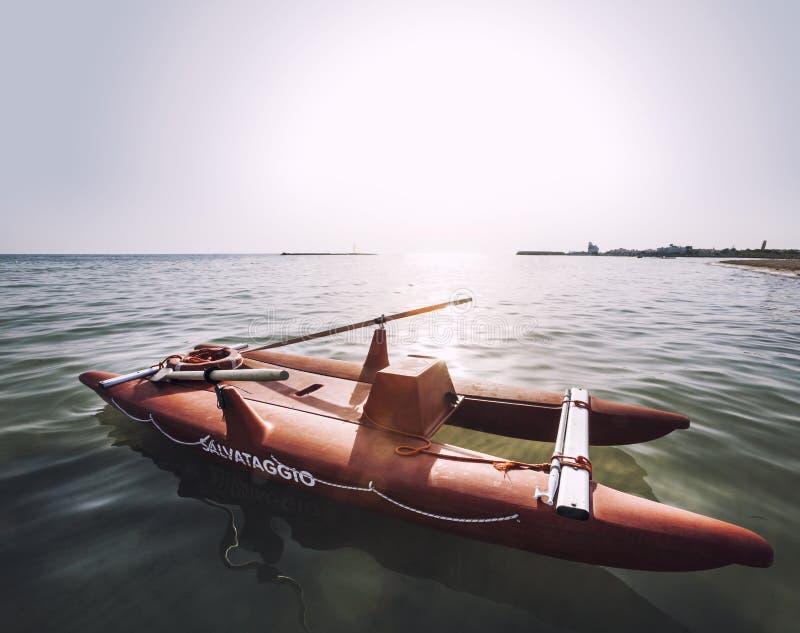 Włoski łódź ratuneku ratownik fotografia stock