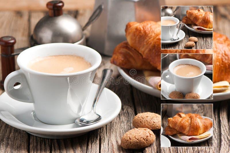 Włoski śniadanie - kolaż obrazy royalty free