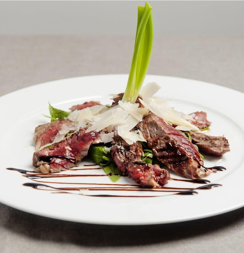 Włoski świeży bufet z łososiowym i truskawkowym szkłem zdjęcie royalty free