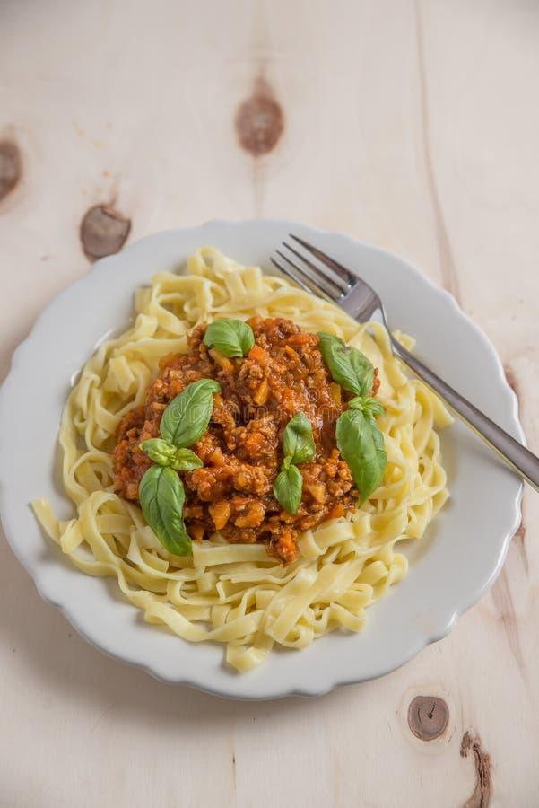 Włoski bolognese makaron zdjęcie stock