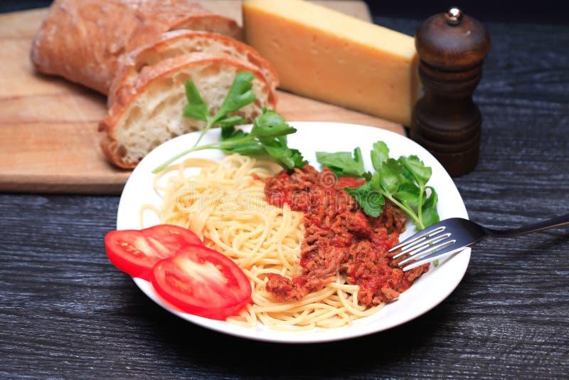 włoski bolognese makarony fotografia stock