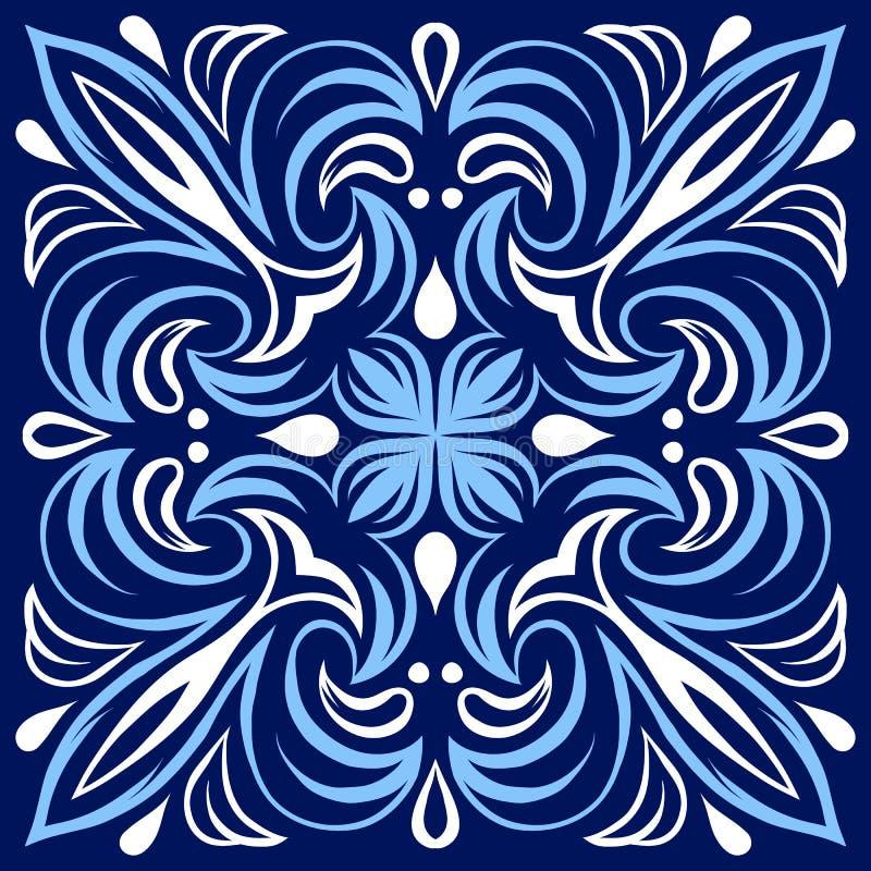 Włoski ceramicznej płytki wzór Etniczny ludowy ornament ilustracja wektor