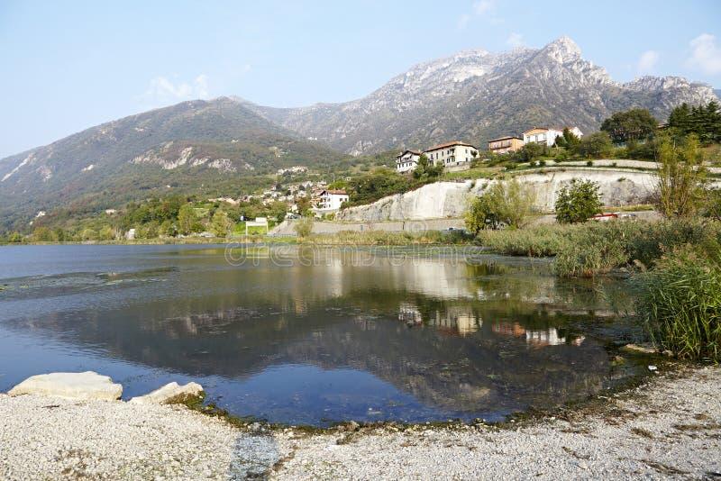 Włoski jezioro obrazy stock