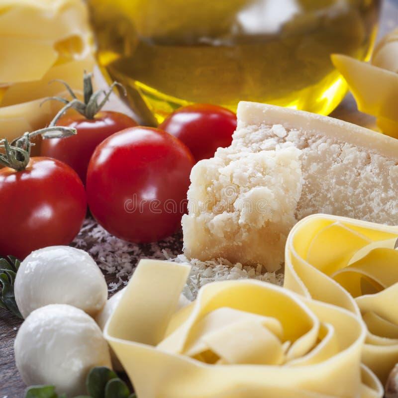 Włoski karmowy tło fotografia stock