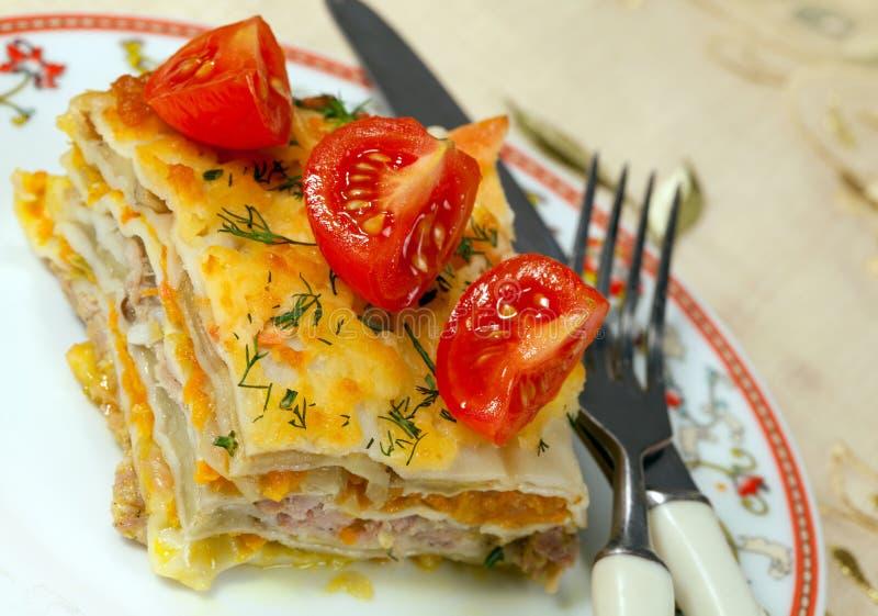 Włoski kuchni Lasagna obrazy royalty free
