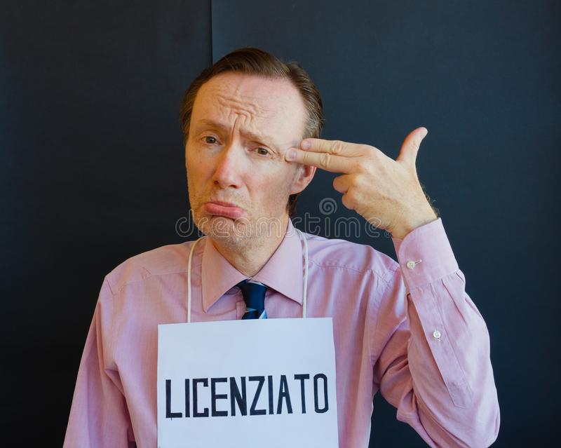 Włoski mężczyzna podpalający obraz royalty free