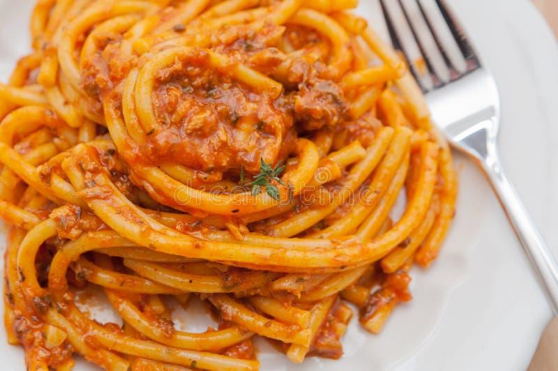 Włoski makaronu naczynie obraz stock