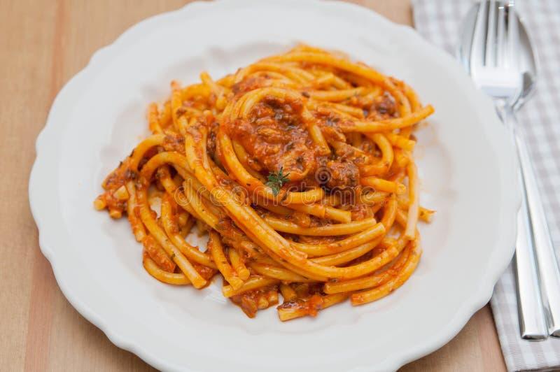 Włoski makaronu naczynie obrazy stock