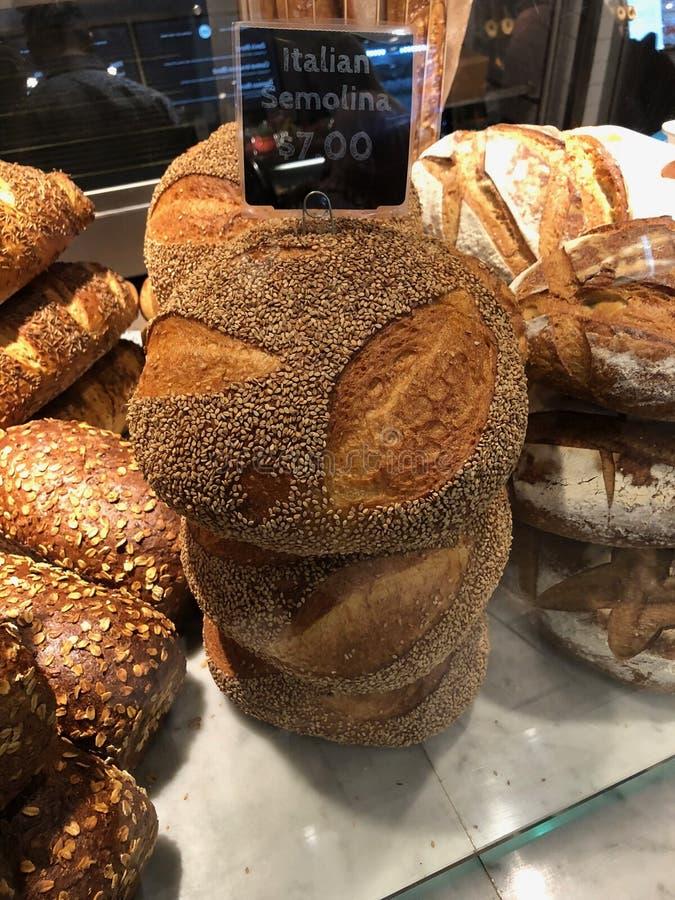 Włoski manna chleb Dla sprzedaży W sklepie zdjęcie stock