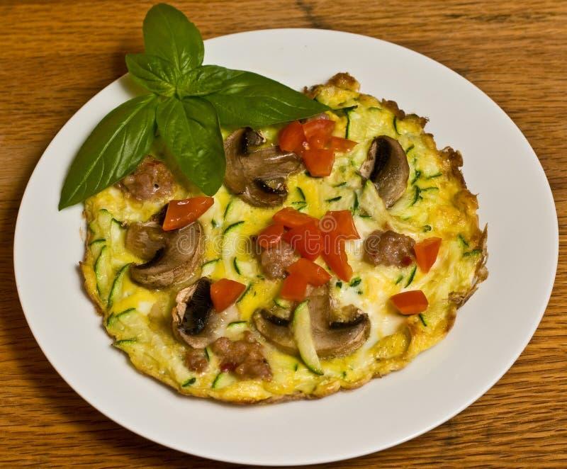 Włoski omlet zdjęcie stock