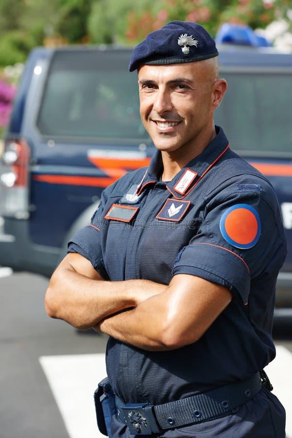 Włoski policjant carabinier obrazy stock
