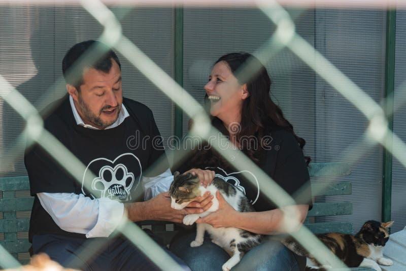 Włoski polityk Matteo Salvini fotografia stock