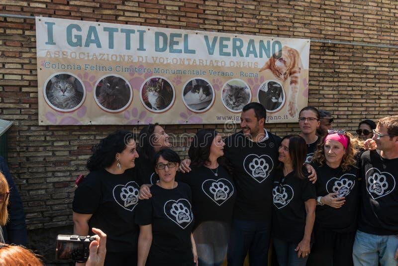 Włoski polityk Matteo Salvini zdjęcie royalty free