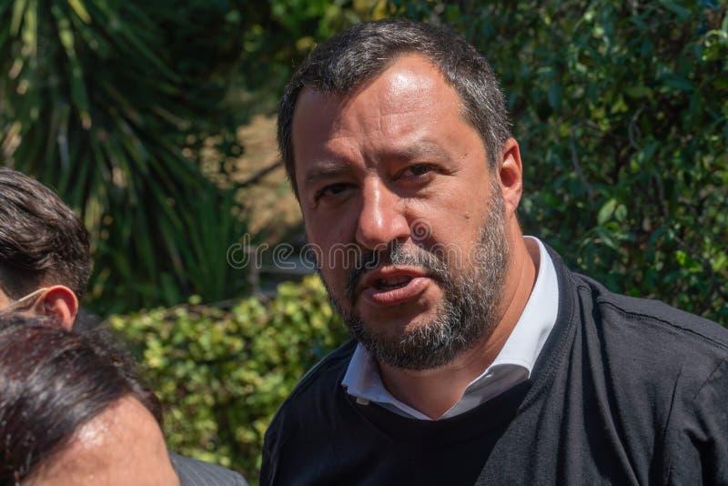Włoski polityk Matteo Salvini obraz stock