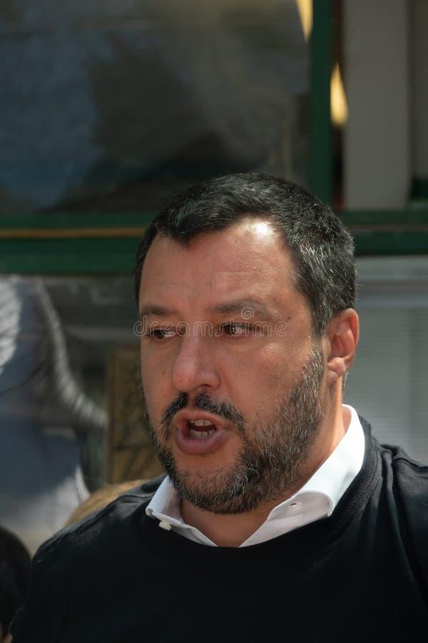 Włoski polityk Matteo Salvini zdjęcia royalty free