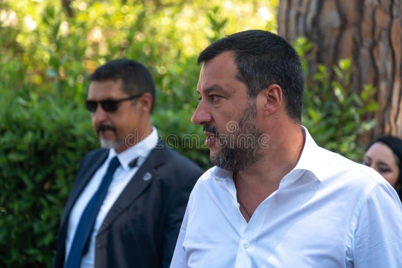 Włoski polityk Matteo Salvini zdjęcie stock