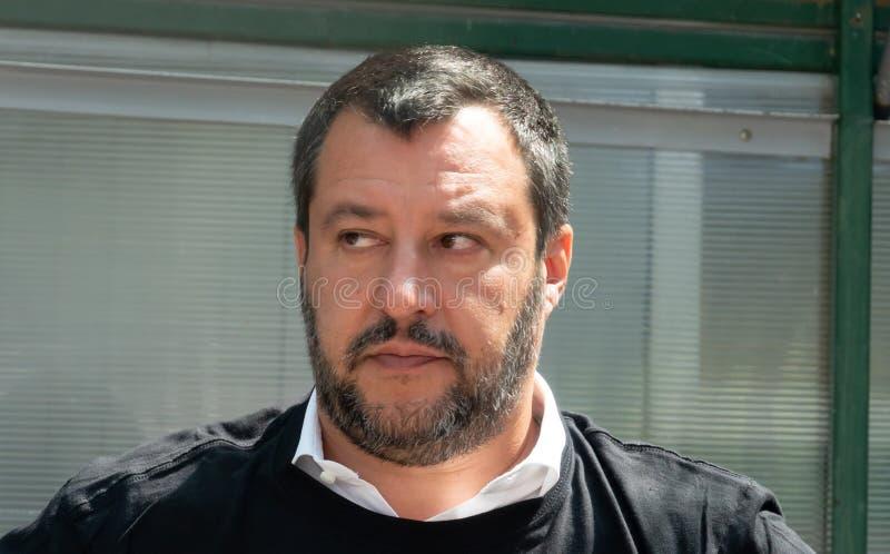 Włoski polityk Matteo Salvini fotografia royalty free