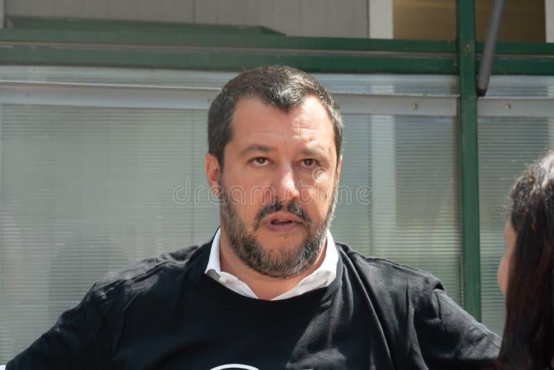 Włoski polityk Matteo Salvini obrazy royalty free