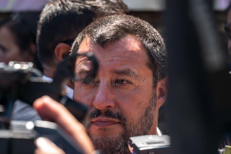 Włoski polityk Matteo Salvini obraz royalty free