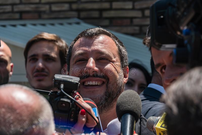 Włoski polityk Matteo Salvini obrazy stock