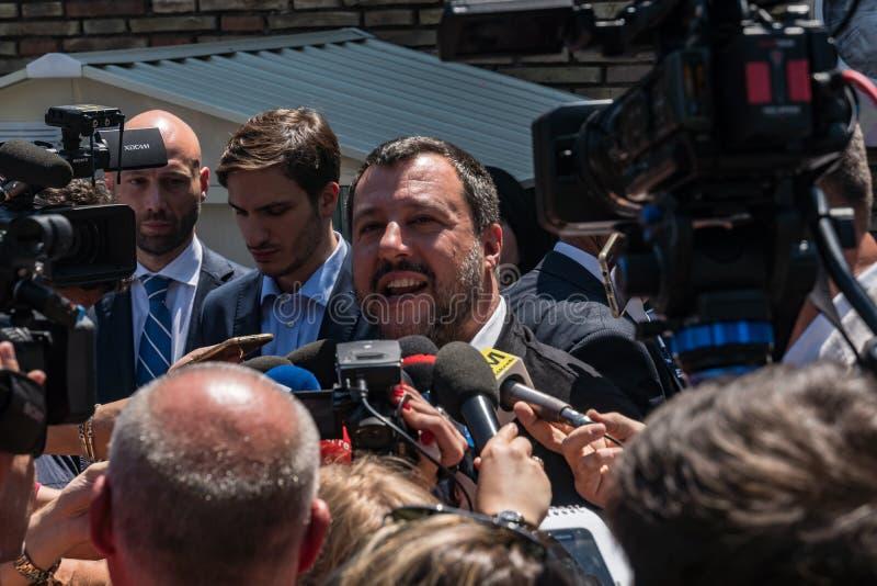 Włoski polityk Matteo Salvini zdjęcia stock