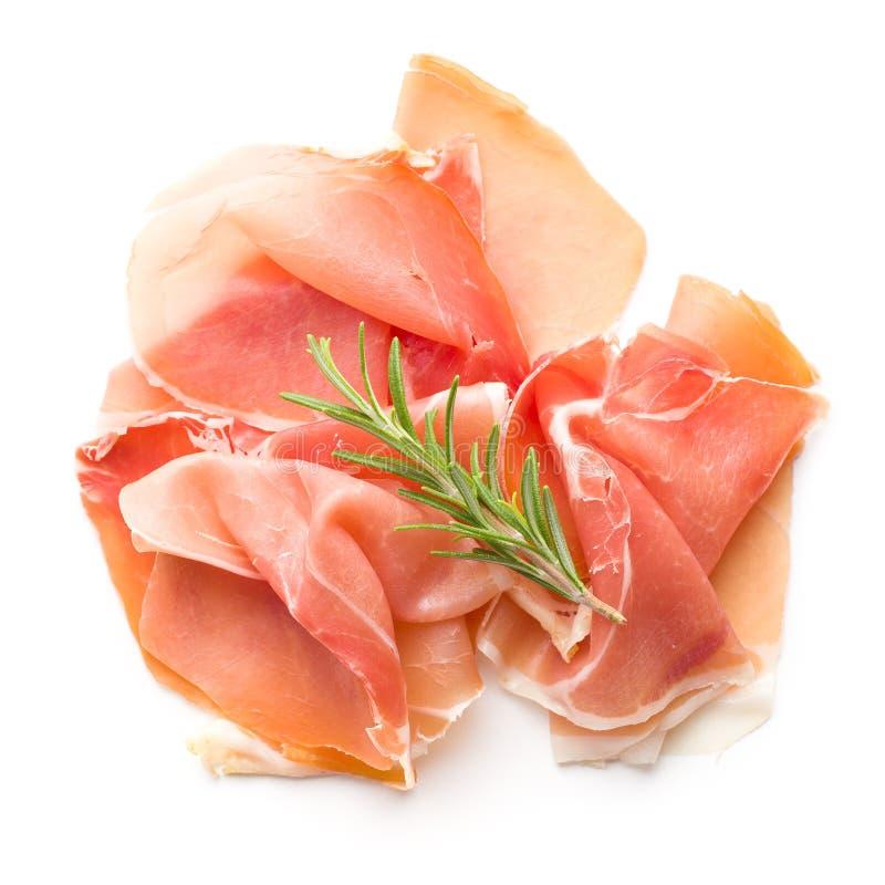 Włoski prosciutto crudo, jamon lub obraz royalty free