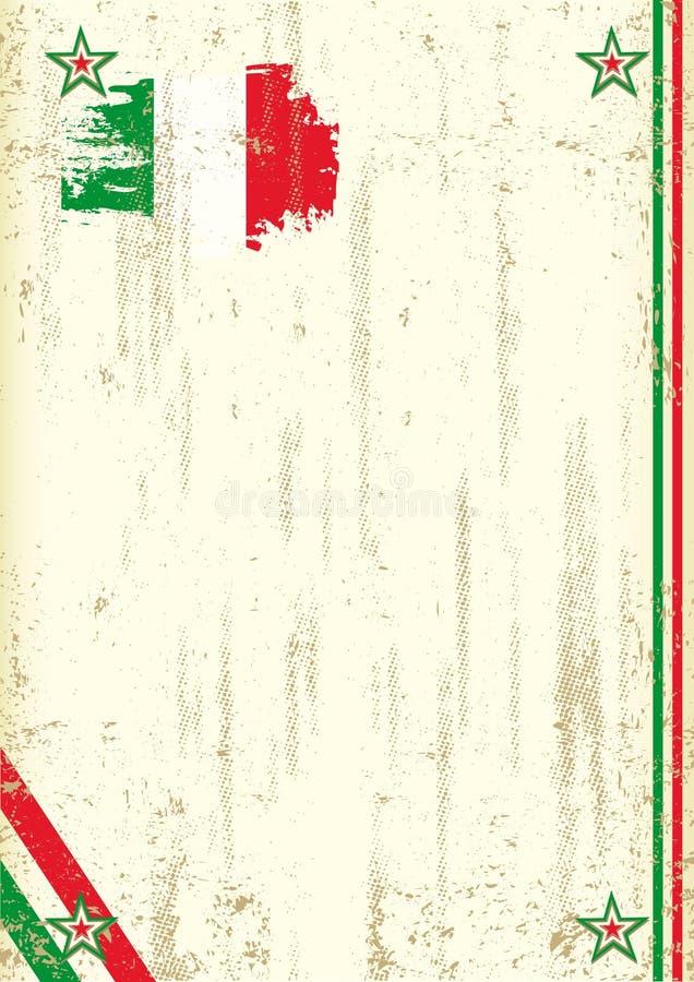 Włoski retro tło ilustracji