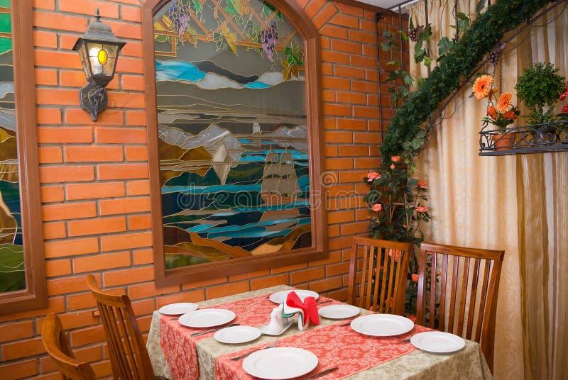włoski romantyczna restauracja zdjęcie royalty free
