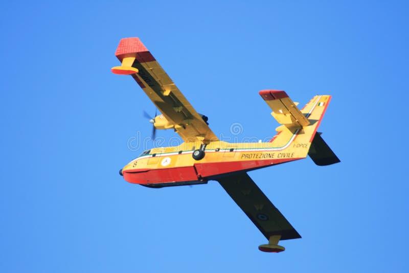 Włoski samolot ochrony ludności zdjęcia royalty free