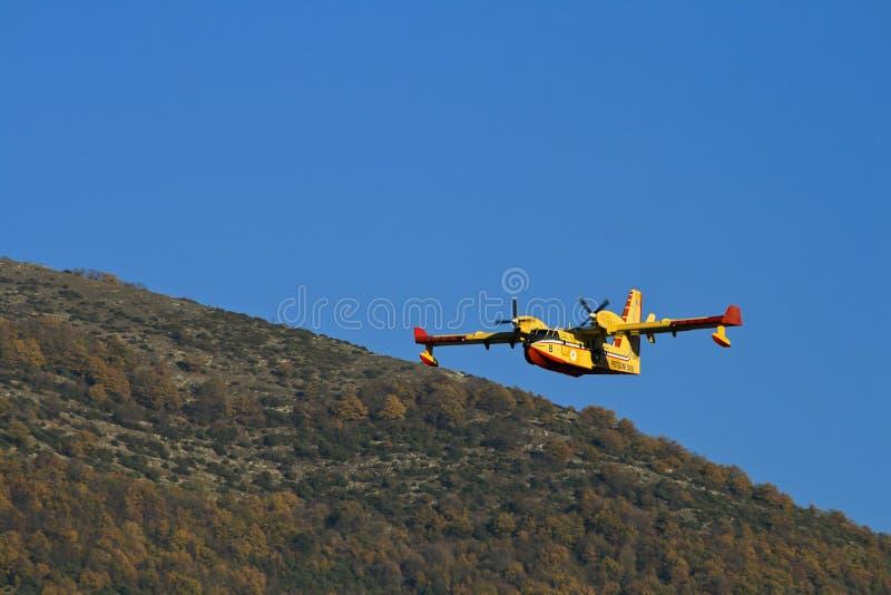 Włoski samolot ochrony ludności obrazy stock