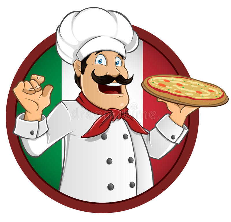 Włoski Szef kuchni ilustracja wektor