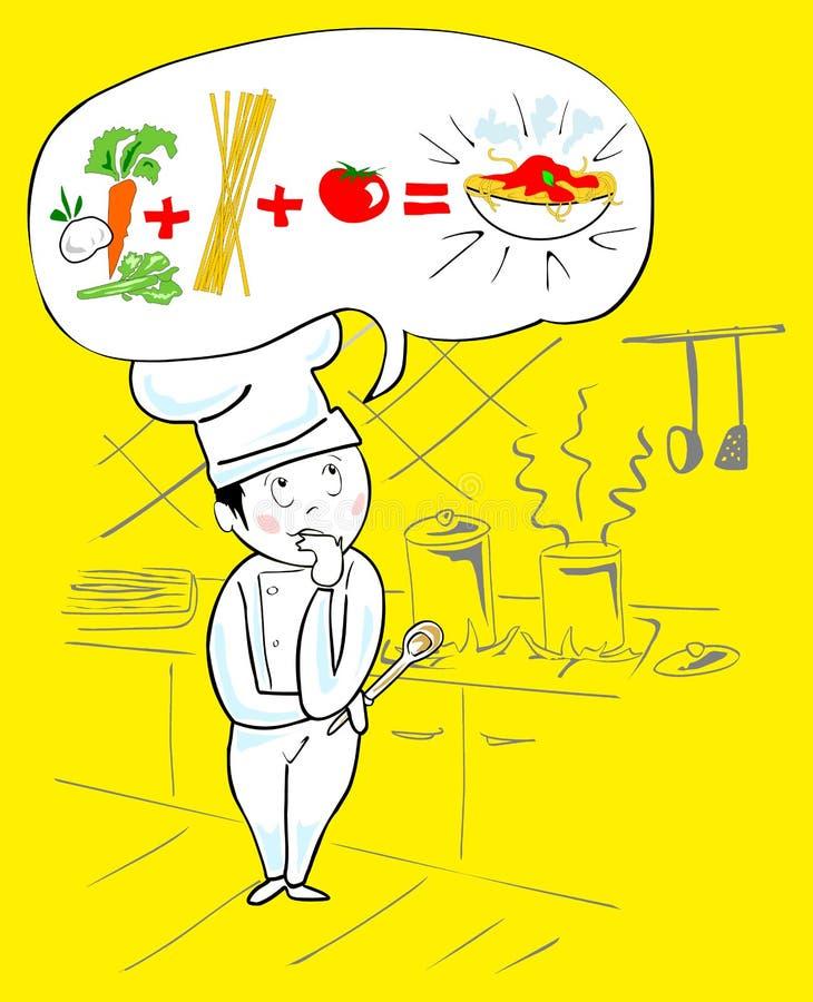 włoski szef kuchni projekt royalty ilustracja