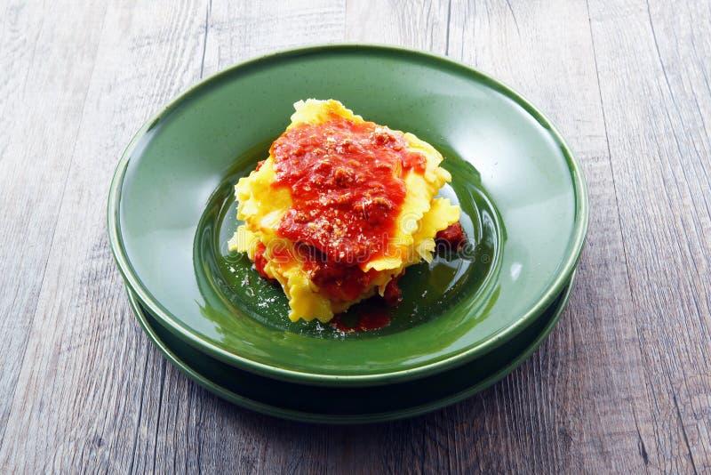 Włoski tortelloni z mięsnym kumberlandem zdjęcia stock