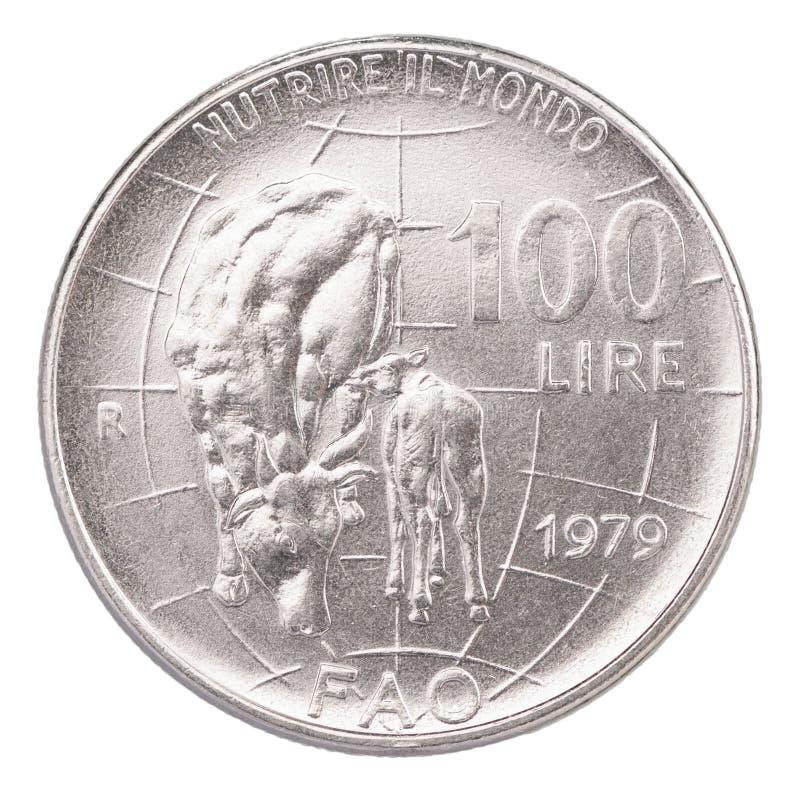 Włoskie stare monety obrazy royalty free