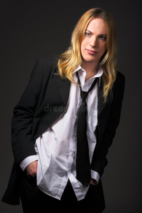 włosy blond facet young obrazy stock