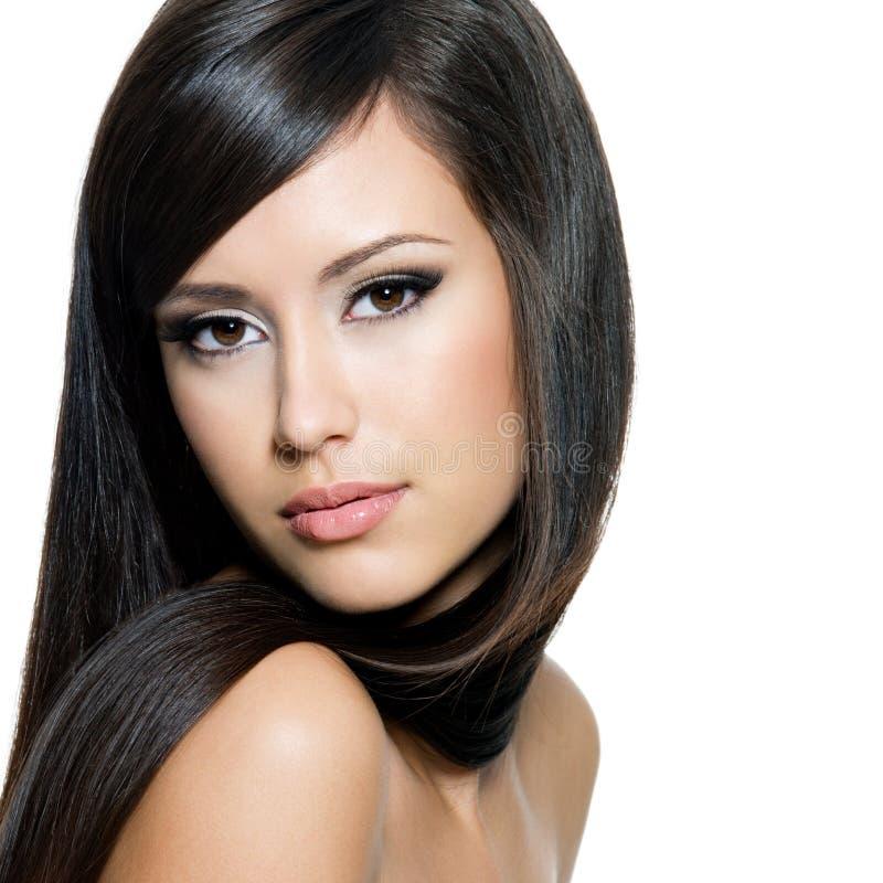 włosy długie pretty woman zdjęcie stock