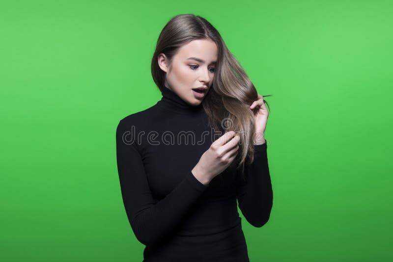Włosy i głowy skóry problem obraz royalty free