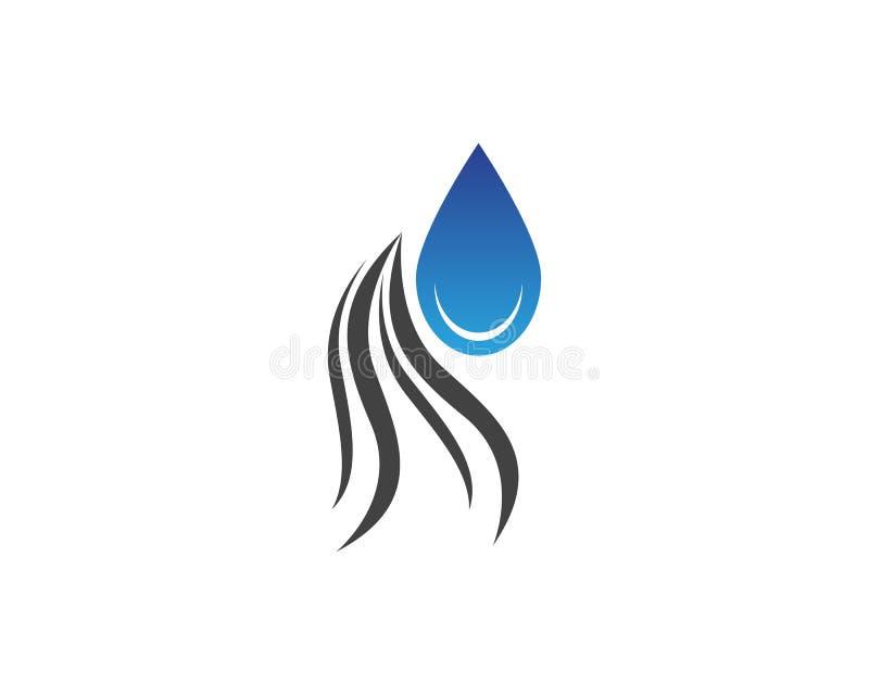 Włosy I wody witaminy loga projekta szablon ilustracja wektor