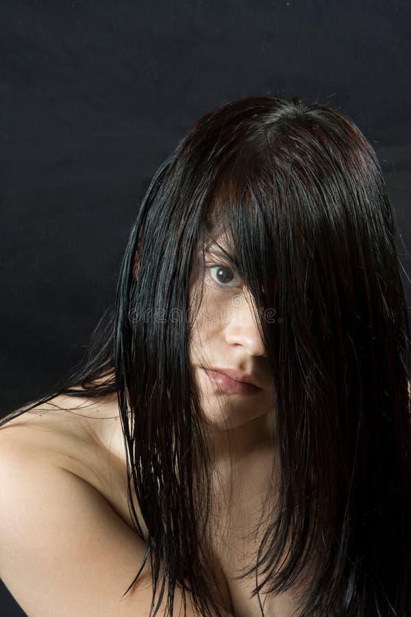 włosy mokry obrazy royalty free