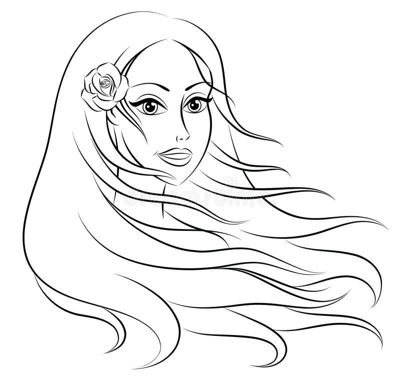 włosy tęsk ilustracja wektor