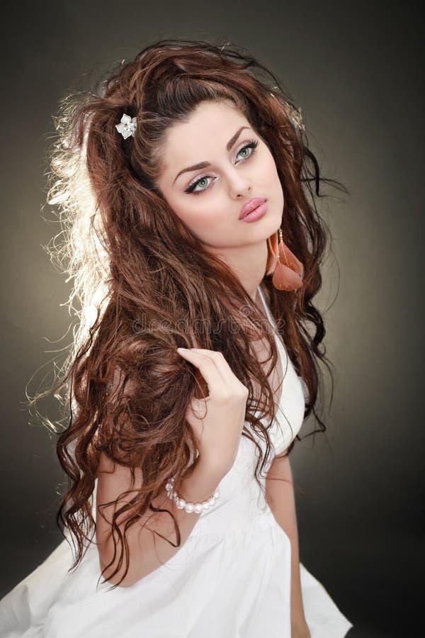 włosy tęsk model obraz stock