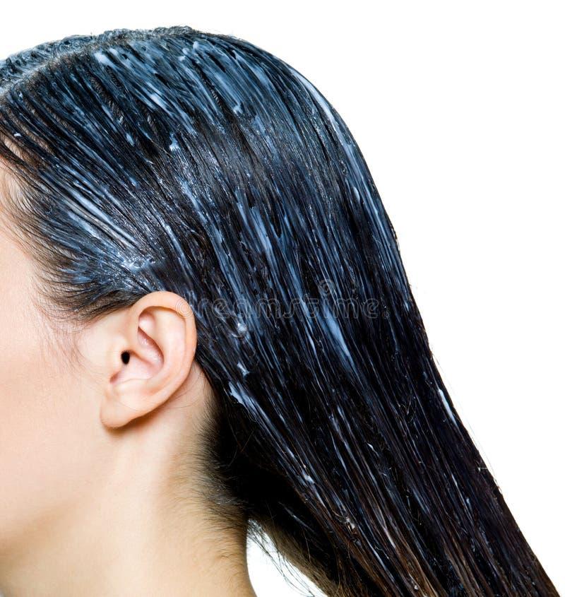 włosy włosiana farba zdjęcie stock