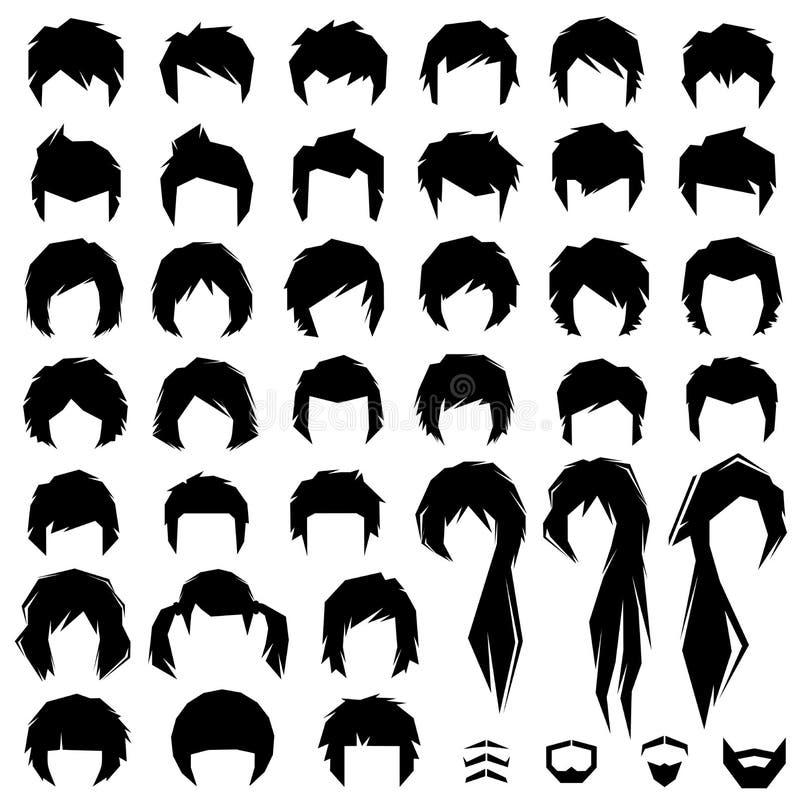 Włosy, wektorowa fryzura ilustracji