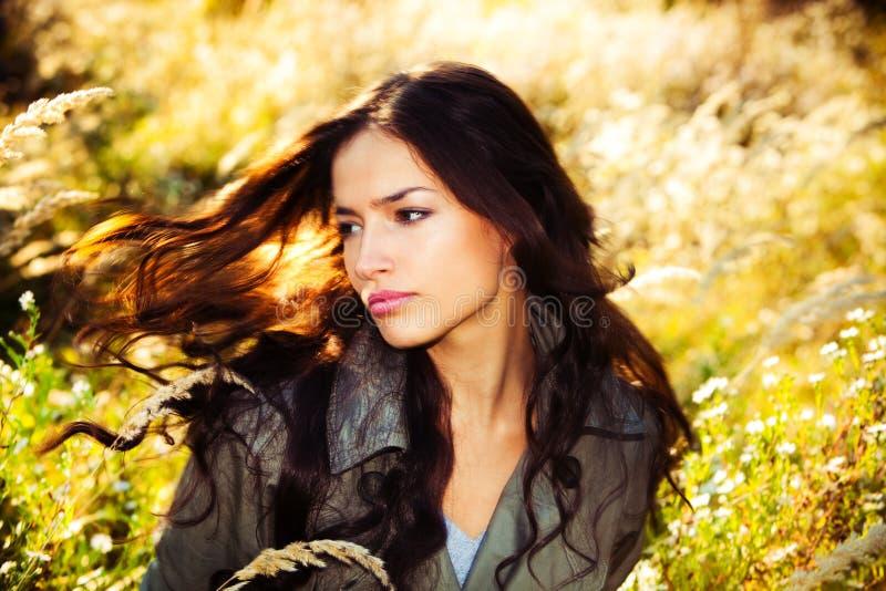 włosy wiatr obrazy royalty free
